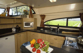 Luxury galley kitchen