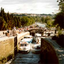 The staircase locks at Fonserannes