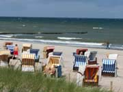 Beach Chairs at Warnemunde on the Baltic Coast
