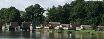Boathouses on the SchwerinerSee
