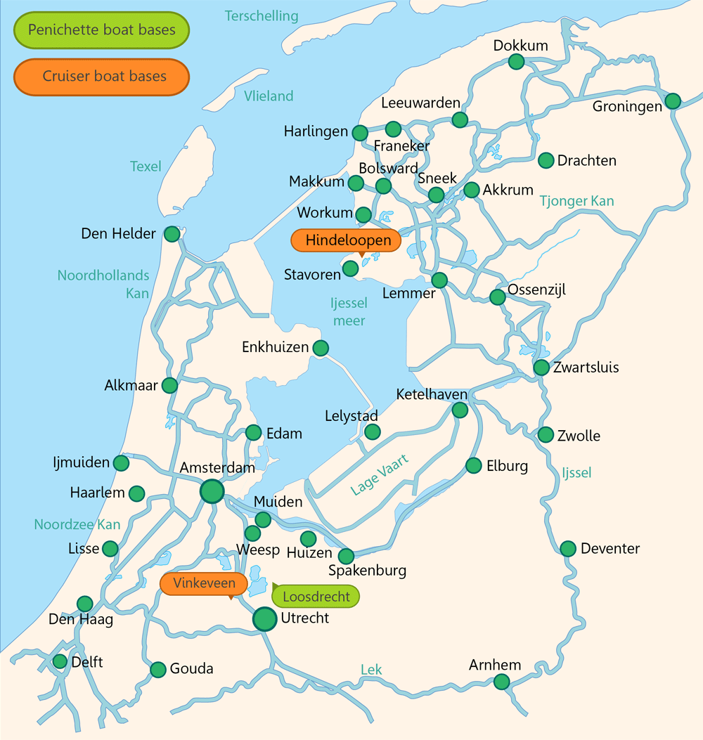 Holland Boating Map