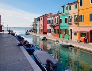 Houses on the lagoon of Venice