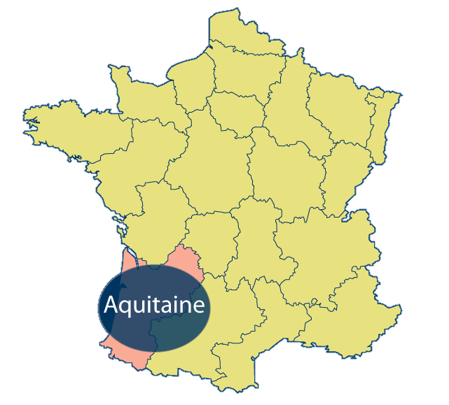 Aquitaine Area Map