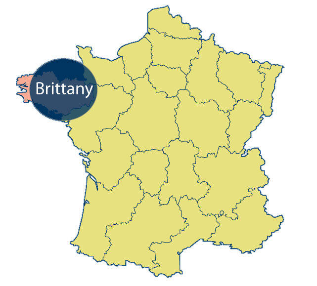 Brittany Area Map