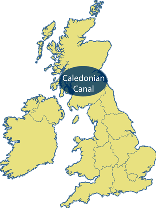 Caledonian Canal Area Map