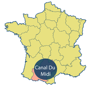 Canal Du Midi Area Map