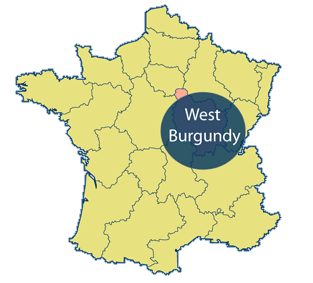 West Burgundy Area Map