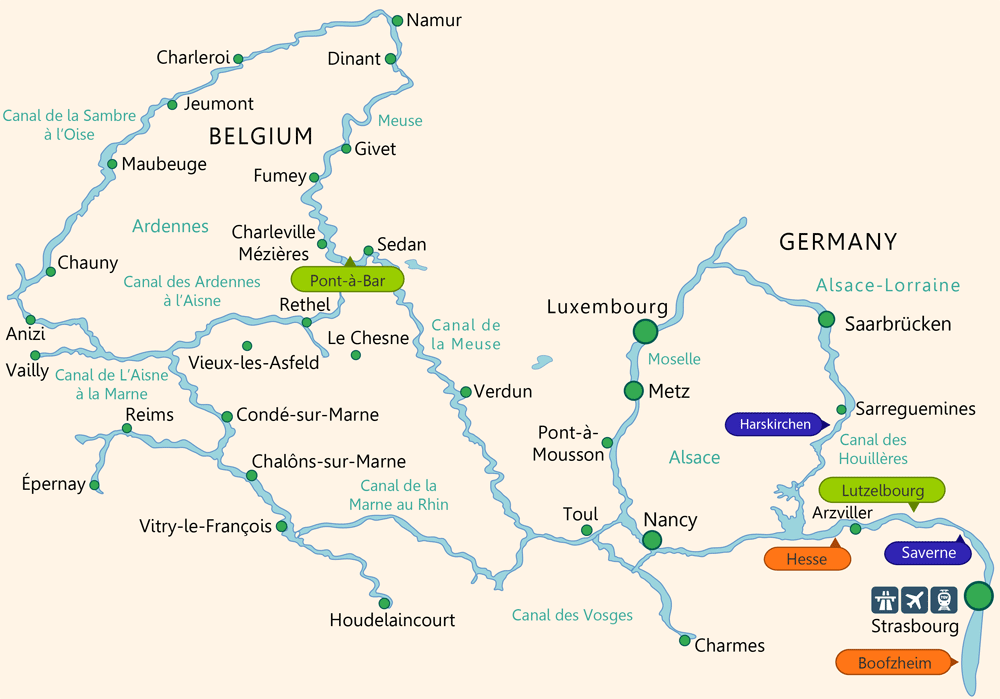 alsace boating map