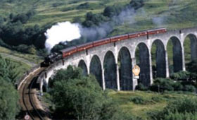 The famous West Highland railway line